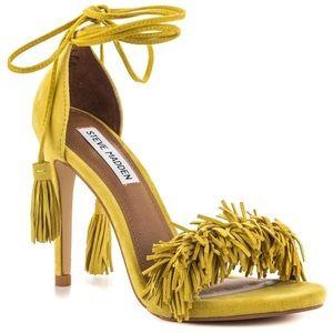 Steve Madden 'Sassey' Yellow Fringe Heels